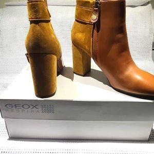 GEOX Aurelius boots-cognac/curry leather/suede